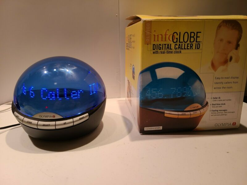 Sharper Image Google Info Globe Scrolling Holo LED Message Center With Caller ID