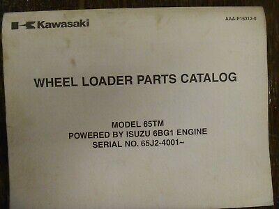 Kawasaki 65tm Wheel Loader Isuzu 6bg1 Diesel Engine Part Catalog Manual