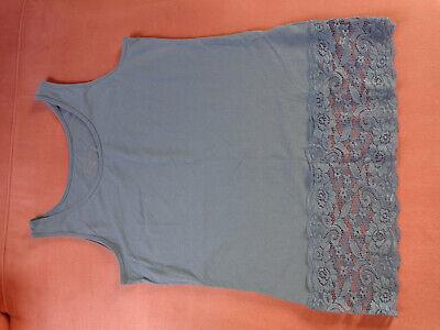 Longtop mit Spitze blaugrün Gr. 42/44/XL online kaufen