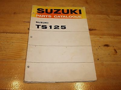 Original Suzuki TS125 Parts Cataloque