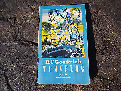 Vintage 1950 B.F. Goodrich Travelog  Booklet From Rand McNally