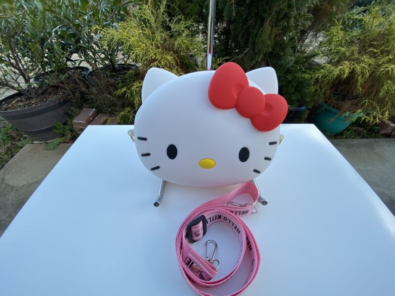 NEW Silicone Hello Kitty bag coin purse 4 kid w adjustable strap Large SZ US sel