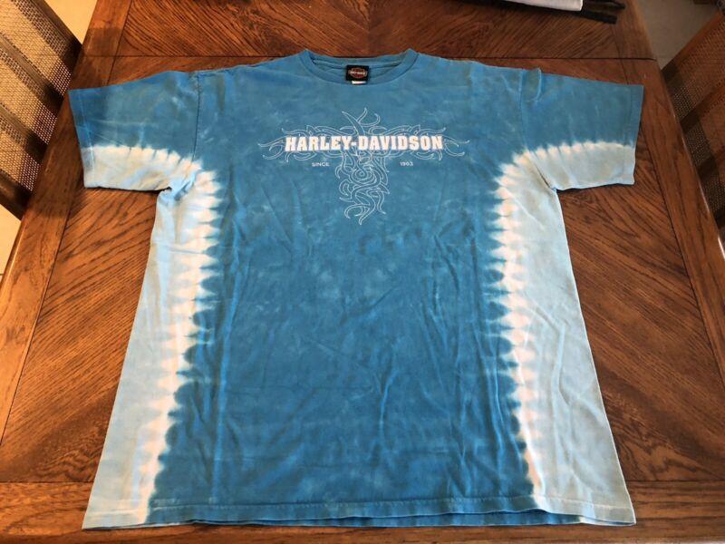 Chuck's Harley Davidson Bloomington, Illinois Tie Dye T Shirt XL
