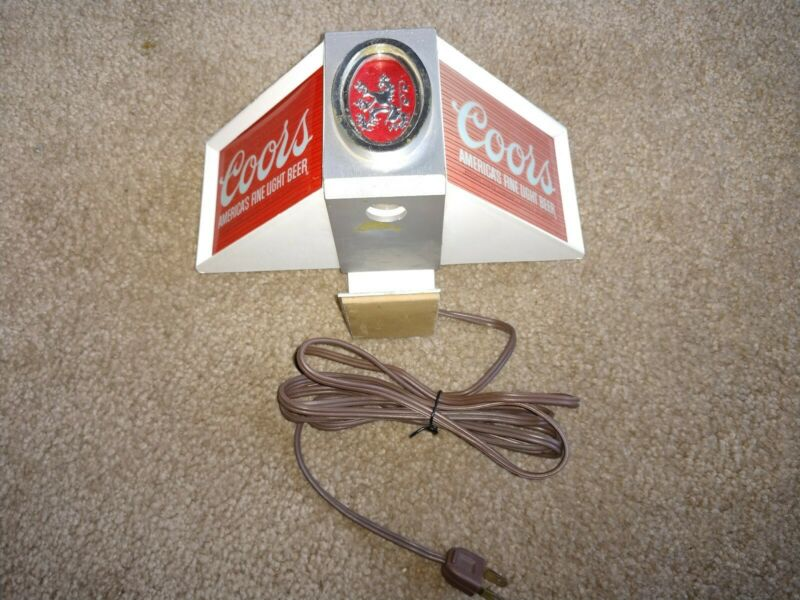 VINTAGE 1970s LIGHTED COORS BEER SIGN Bar LIGHT Cash Register Topper: WORKS