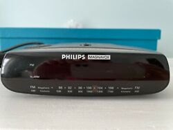Vintage Philips Magnavox AM FM Clock Radio AJ-3080/17 Alarm