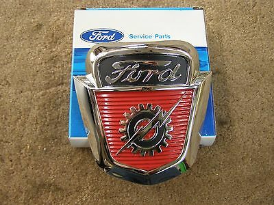 NOS 1953 1954 1955 1956 Ford Truck Pickup Hood Emblem F100 Ornament Trim