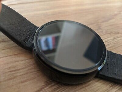 Motorola Moto 360 Smartwatch - Leather strap - Working condition