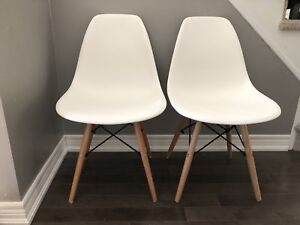 Eames style Eiffel dining chairs