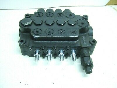 New Husco 4 Spool Hydraulic Valve With Adjustable Relief Valve A08a5323