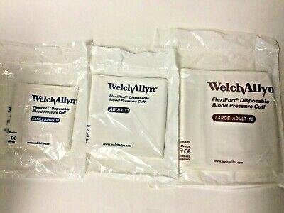 Welch Allyn 901044 Flexiport Adult 1011 12 Disposable Blood Pressure Cuff Set