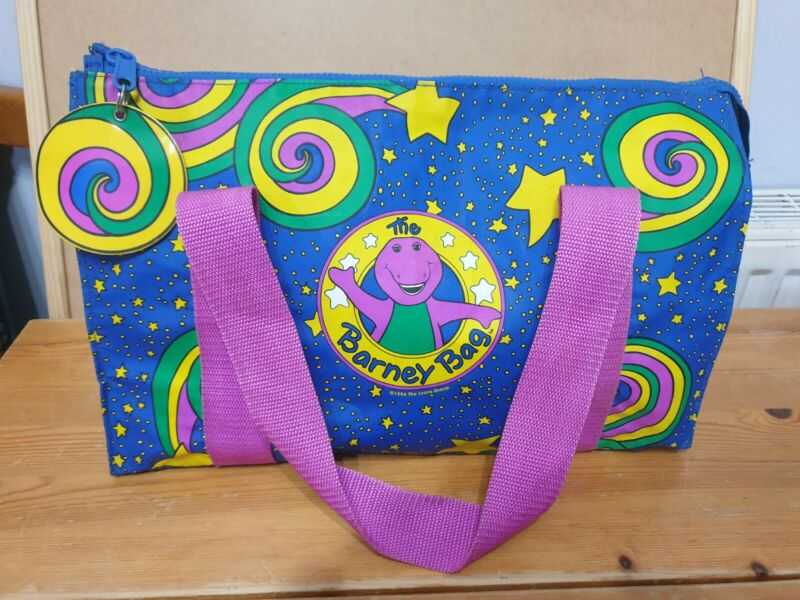 "Original 1994 Barney Dinosaur ""The Barney Bag"" Vinyl Bag"