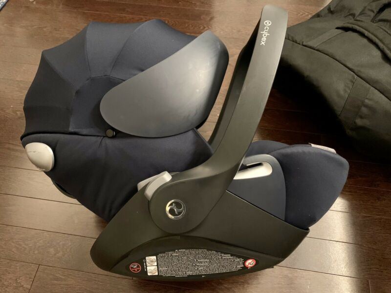 Cybex Cloud Q Infant Car Seat BLUE from Newborn to 18months +Travel Bag No Base