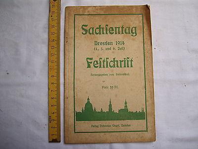 Sachsentag Dresden 1914 , Festschrift