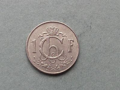 Gebraucht, Luxemburg 1 Franc  1960 gebraucht kaufen  Bad Neuenahr-Ahrweiler