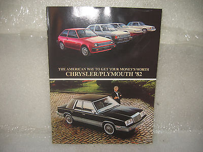 1982 CHRYSLER PLYMOUTH FULL-LINE 12 PAGE SALES LITERATURE BROCHURE CATALOG NOS for sale  Shipping to Canada
