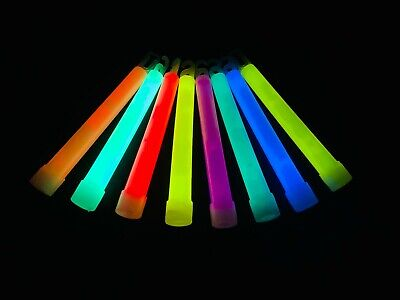 Club Glow Sticks (6 Inch Premium Glow Sticks 15 mm Thick Waterproof & Non-Toxic Glow Sticks 25Pcs)