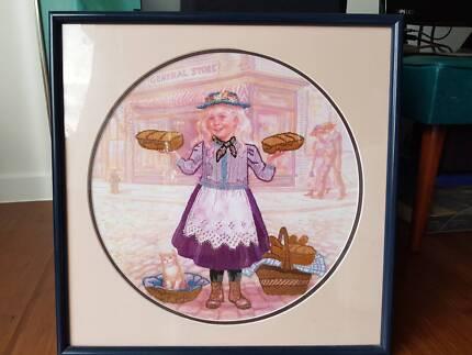 Girl selling bread artwork