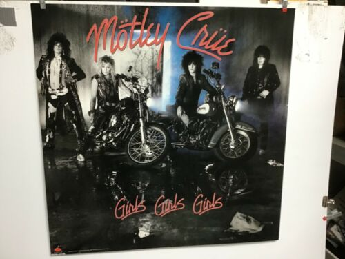 "Motley Crue ""girls, girls, girls"" 1987 original promo poster"