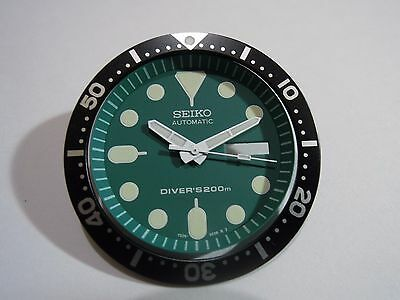 NEW SEIKO REPLACEMENT GREEN DIAL/HANDS/INSERT FITS SEIKO 7S26-0020 DIVER'S WATCH for sale  Shipping to United States