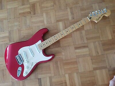 """200 FENDER SQUIER STRAT '57 RI,1 3/4"""" THICK,RARE,CANDY APPLE RED,GREAT MODDER"""