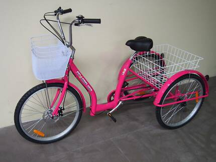 """Pink 24"""" Adult Trike 6 Gears Disc Brakes FULLY ASSEMBLED"""