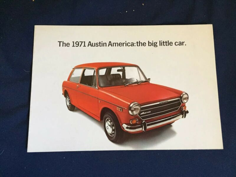 1971 British Leyland  Austin America 1300 Original Brochure  Prospekt