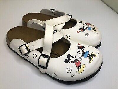 Sz 36 Birki's Birkenstock Germany Disney Mickey Minnie Mouse Shoes Clogs