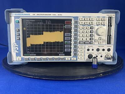 Rohde Schwarz Fsp38 40 Ghz Spectrum Analyzer