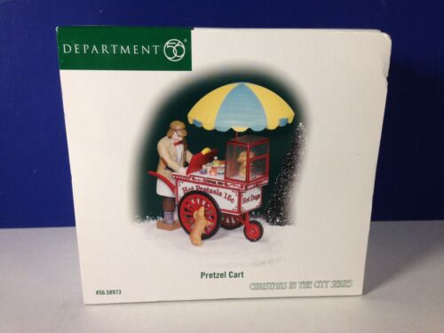 Dept 56 CIC Christmas in the City PRETZEL CART 56.58973 Brand New!
