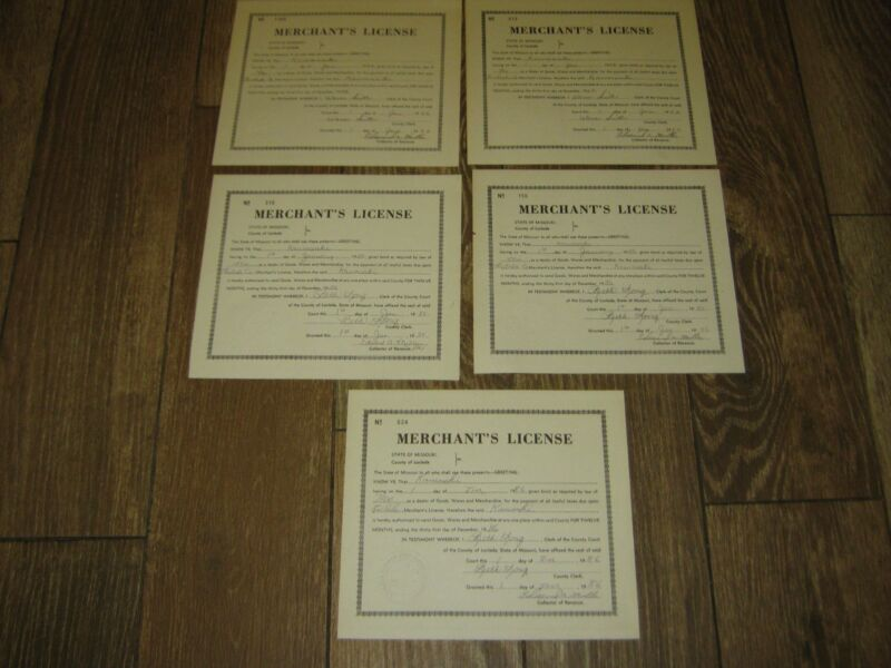 5 pcs Vintage Used Original Merchant