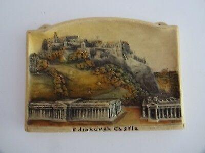 """IVOREX ARTHUR OSBORNE """" Edinburgh Castle"""" Made in  England 3D Plaque"""