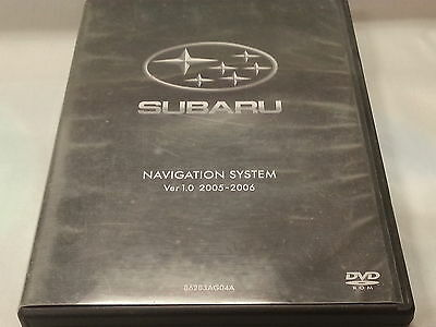 SUBARU NAVIGATION SYSTEM VER 1.0 2005 2006 86283AG04A (MISSING 1 DISC) (Subaru Navigation System)