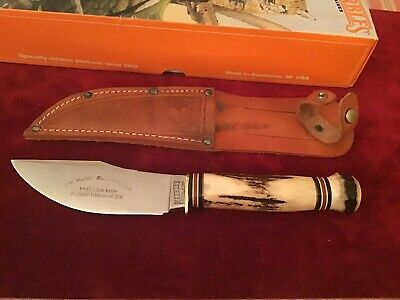 Marbles MSA USA 1997 Marbles Club Knife. 200 Made. Woodcraft.Stag On Stag. MIB