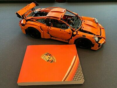 Lego 42056 PORSCHE 911 GT3 RS Technic Orange Car Excellent Condition RETIRED!!