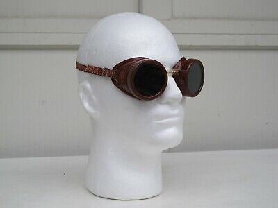 Vintage A.i. Welding Safety Goggles Steampunk Glasses - Made In Usa