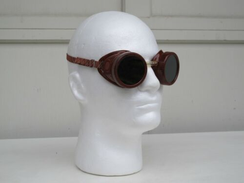 Vintage A.I. Welding / Safety Goggles Steampunk Glasses - Made in USA