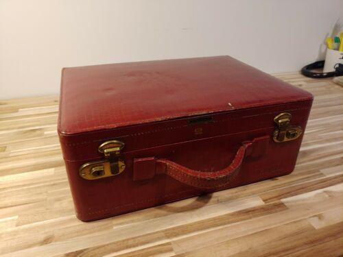 Fabulous Shortrip Vintage Brown Leather Makeup/Toiletries Case