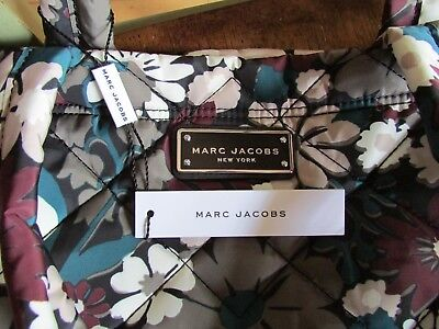 (Marc Jacobs Bag Quilted Flower Small Tote Grey Burgundy NEW $190)