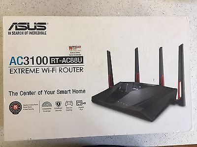 ASUS RT-AC88U Wireless AC3100 Dual-Band Gigabit Router, AiProtection with Trend
