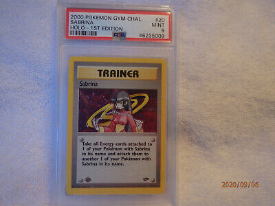 PSA 9 - Sabrina 1st Edition 20/132 - Gym Challenge - Holo Pokemon Card - MINT