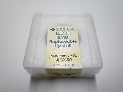 New Sumitomo Smdt10937mel Acx80 1-332 Carbide Smd Replaceable Drill Tip