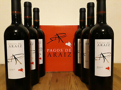 (9,33€ / 1L) 6 Flaschen 2017er Bodegas Pagos ARAIZ Roble trocken klasse Rotwein