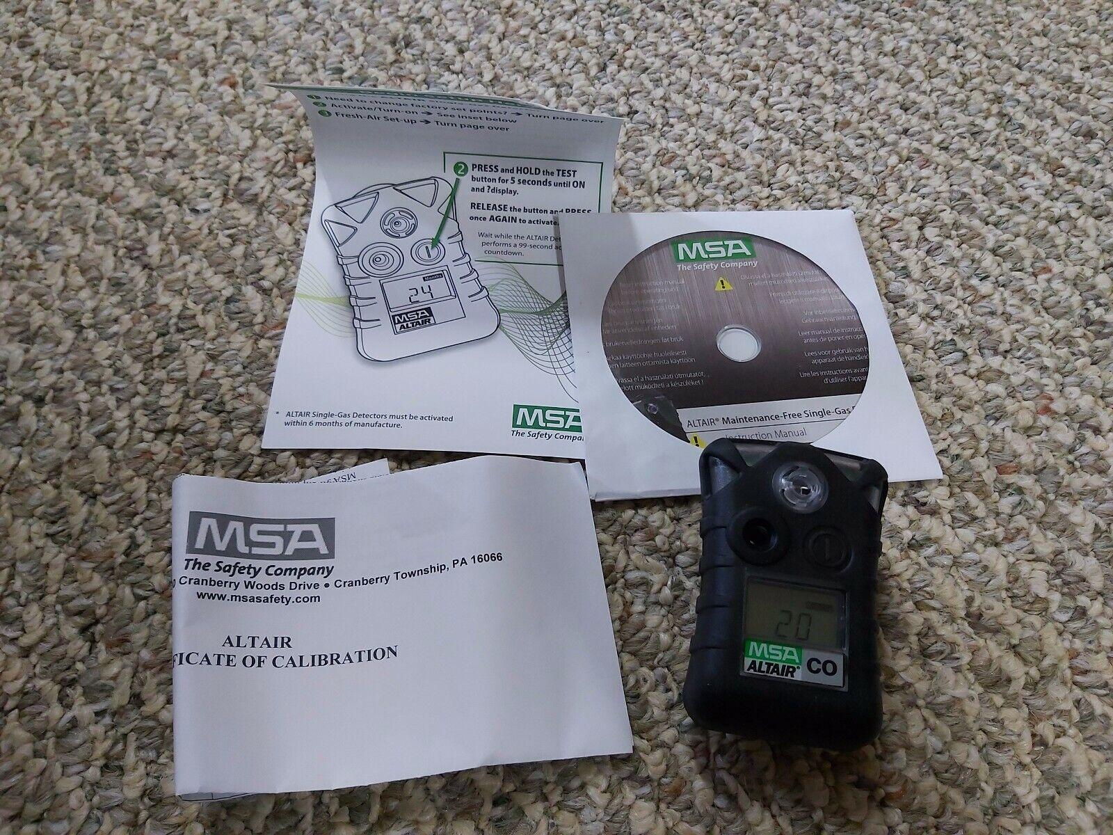 10092522 altair single gas detector carbon monoxide
