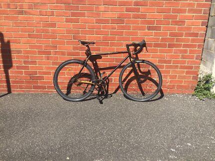 Black road bike/fixie/ single speed