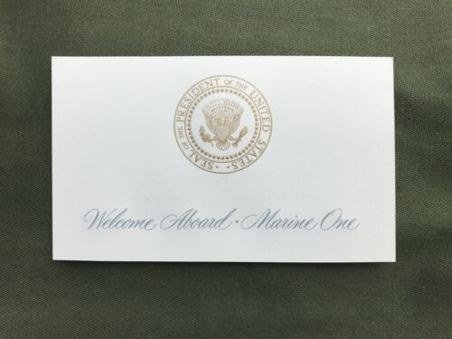 RARE Welcome Aboard Marine One Boarding Seating Card Presidential Seal HMX-1