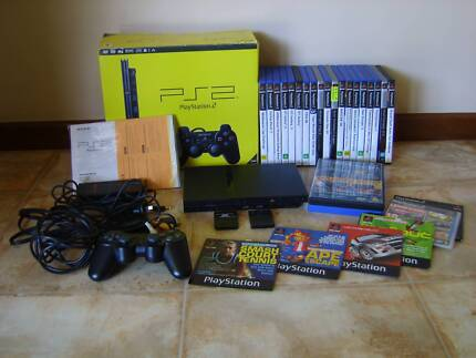 Sony PlayStation 2 Slim Console Black Includes 19 Games