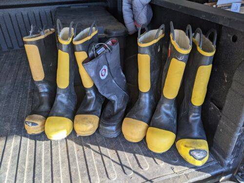 LOT of 7 non matching Firefighter Boots Sizes 10-11.5