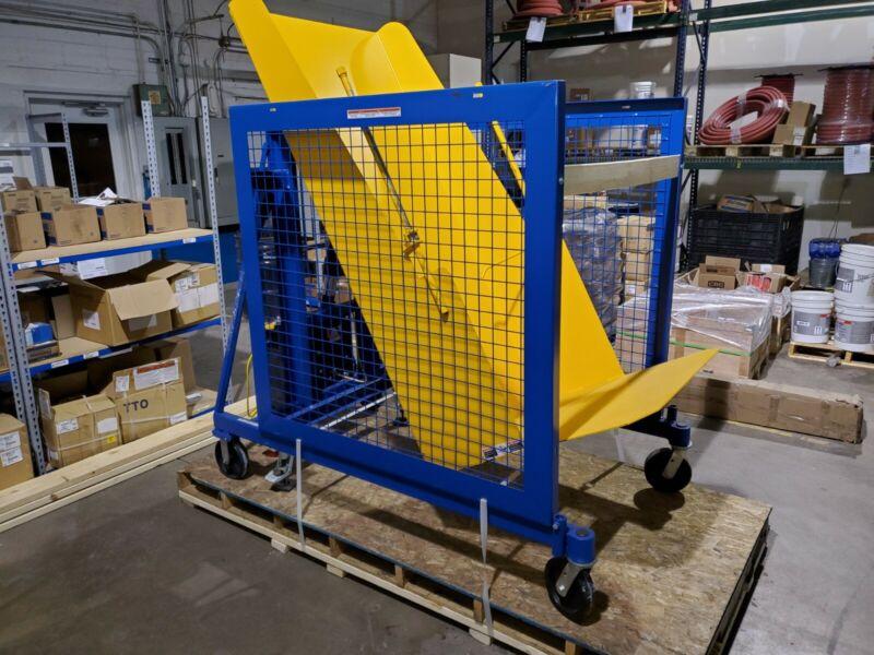 Vestil TCD-U-60-AC Universal AC Trash Can Dumper, Steel -IN STOCK-