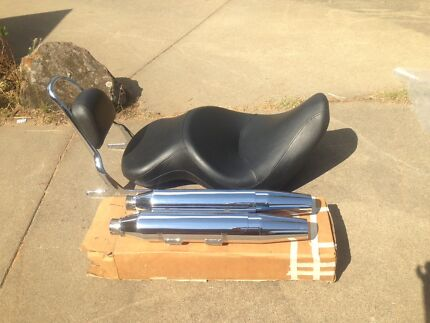 2007 Harley Davidson Springer Softail CVO Seat ,Sissy Bar,Muffler, New