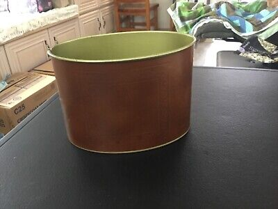 Metal Brown Desk Storage Container